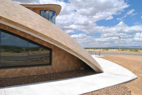 60. The saucer-like shape of Spaceport America, designed by Foster + Partners, brings a sense of space down to Earth, amid the New Mexico desert in the US.
