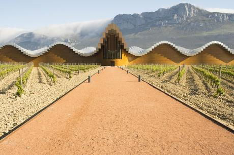 10. The undulating concrete roof of Bodegas Ysios, a winery in Spain's Rioja Alavesa, is used to produce the region's iconic wine.