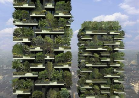 "40. Unlike most skyscrapers, the 256-foot and 344-foot-tall towers of Bosco Verticale (which translates to ""vertical forest"") in Milan are adorned with greenery, decorated with over 700 trees and 90 types of plants."