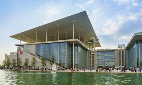 73. Renzo Piano's Stavros Niarchos Foundation Cultural Centre is built on top of an artificial hill in Athens.