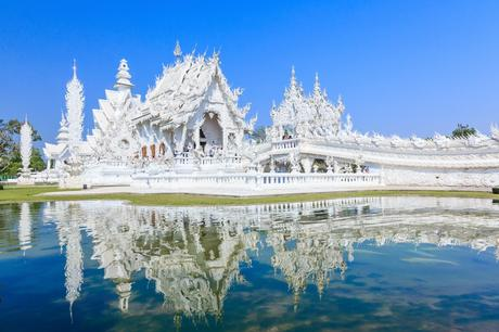3. Find peace at Wat Rong Khun, also known as the White Temple, in northern Thailand.