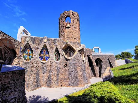 16. The Church of Colònia Güell in Catalonia, by Antoni Gaudí, was never fully completed, but it is still unmissable.
