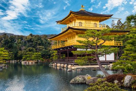 25. Rokuon-ji, or the Golden Pavilion, is a Zen Buddhist temple in Kyoto, Japan.