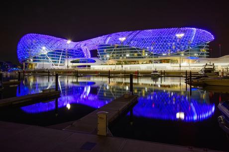 90. Built on top of a Formula One race track, the luxury hotel Yas Viceroy Dubai has an imposing canopy studded with LEDs that shine bright in the dark.