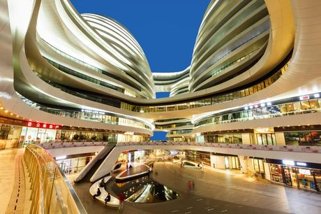 69. The Galaxy Soho in Beijing, China, succeeds in its aim of producing a retail environment which is devoid of harsh corners.