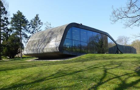 48. Zaha Hadid's extension of the Ordrupgaard Museum near Jægersborg Dyrehave in Denmark is encased in black lava concrete, which changes colour from grey to black depending on the weather.