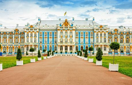 71. The Catherine Palace just south of St. Petersburg was where the Russian Tsars spent their summer months.