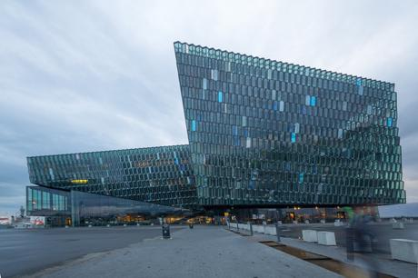 24. The €164 million (about £137 million) HARPA Concert Hall in Reykjavik, Iceland cuts through the country's harsh climate with sharp diagonal lines.