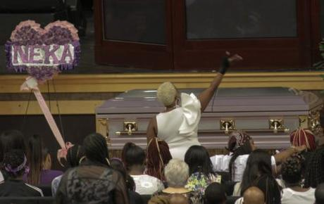 Thousands Show Up To Say Their Last Goodbyes To Kenneka Jenkins [VIDEO]