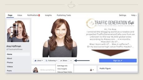 How to switch FB Page Public Figure, Step 2