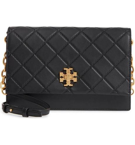 Quilted flap bag from Tory Burch. Details at une femme d'un certain age.