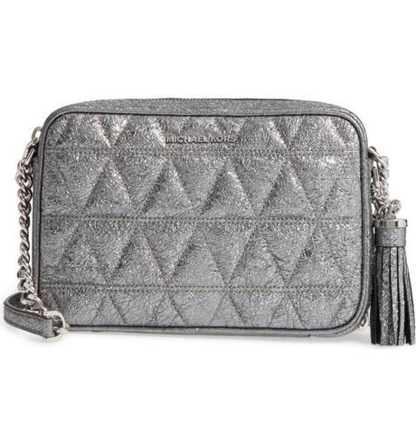 Michael Kors metallic tassel bag. Details at une femme d'un certain age.