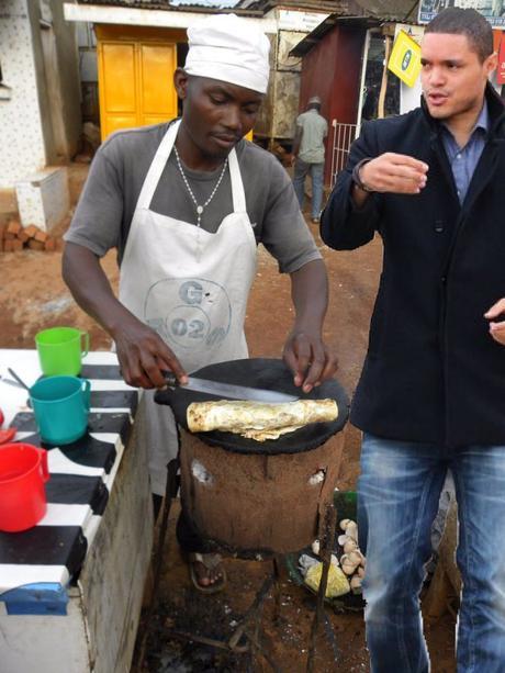 TrevorNoahVisitsUganda Wandegeya rolex