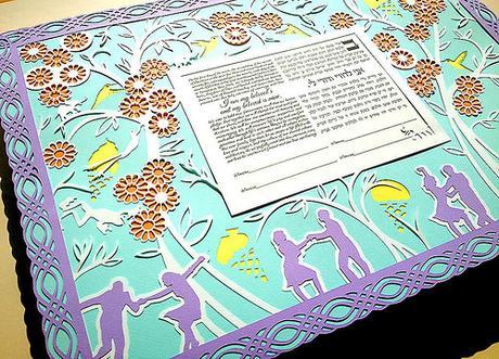Swing Dance Ketubah by Papercuts by Oren
