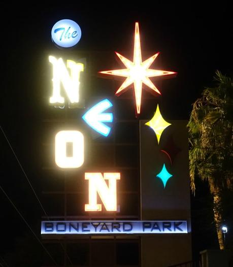 The Neon Boneyard, a museum of old Las Vegas neon signs. Details at une femme d'un certain age.