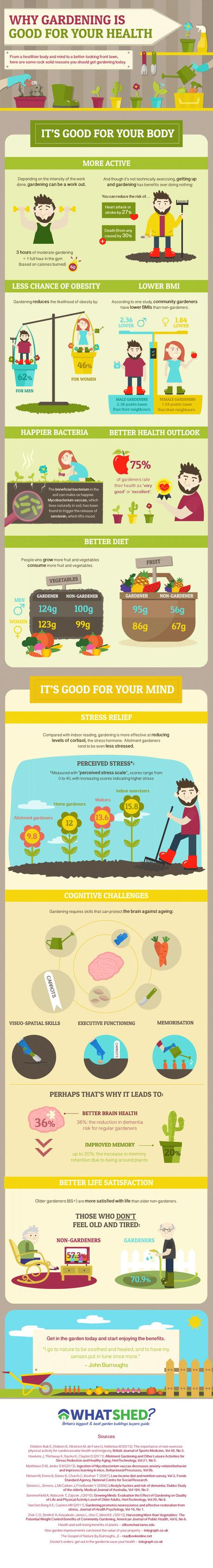 gardening for your health infographic