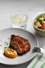 Chops marinated in red pesto
