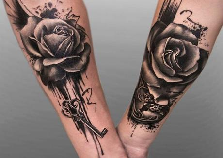 Couple-Rose-Tattoo