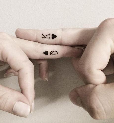 Minimalist K & Q Tattoo