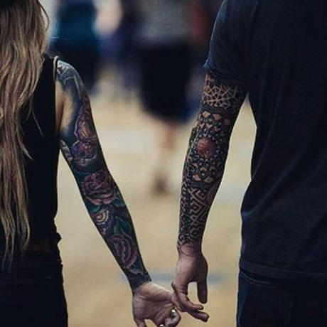 sleeve tattoo for couples