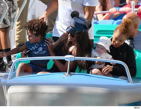 Janet Jackson and Ciara Fun Day At Disneyland With Their Sons