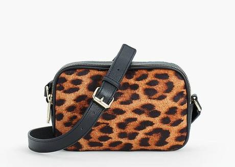 leopard print haircalf bag from Talbot's. Details at une femme d'un certain age.