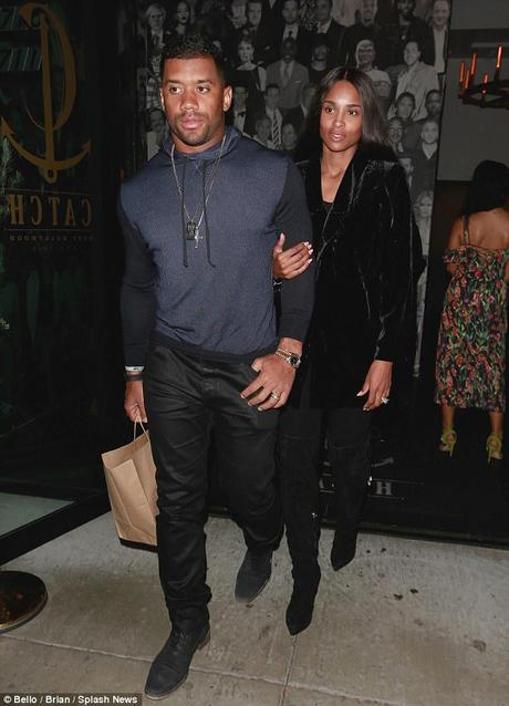Russell Wilson & Ciara Date Night At Catch LA [PICS]
