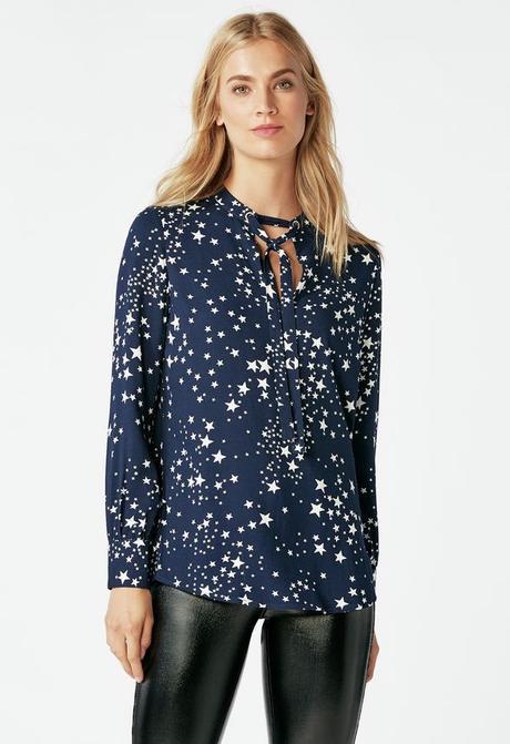 JustFab, shopping, stylist, stars, star print, fall fashion