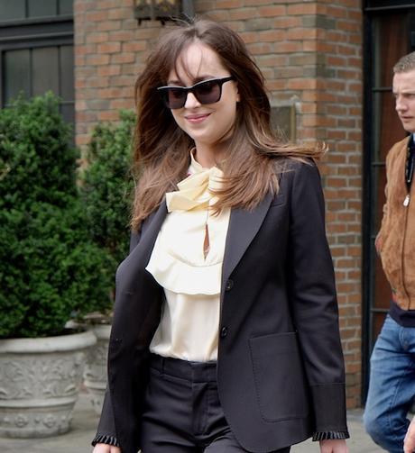 Dakota Johnson leaving her hotel in New York