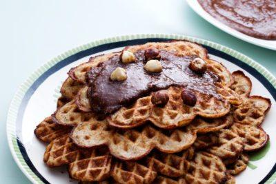 Low-carb banana waffles