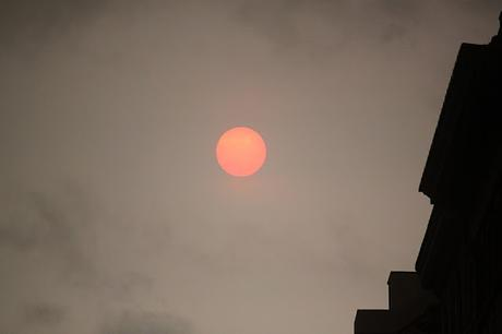 Today's London Sky #RedSun #Ophelia