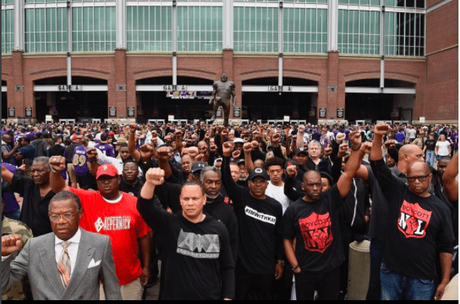 Pastor Jamal Bryant Leads An Army Of Black Men To Take A Knee