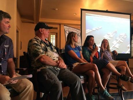 Cruising World panel: Dave Gillespie, Wally Moran, Brittany Meyers, Diana Emmanuelli, and moi