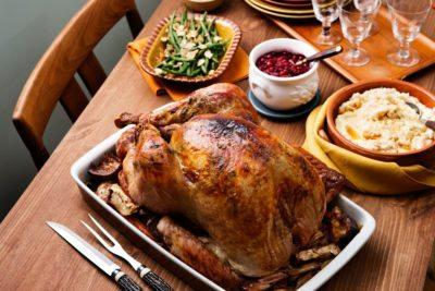 Holiday turkey with low-carb stuffing and gravy