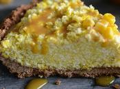 Frozen Corn Tart with Chocolate Crust (Vegan Gluten Free)