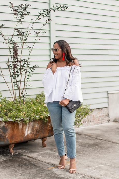 white off the shoulder top-3
