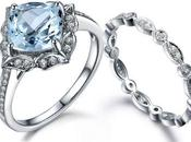 Original Beautiful Option Aquamarine Rings