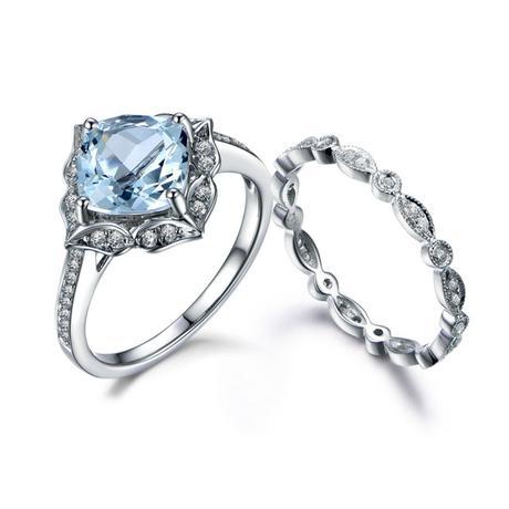 An Original and Beautiful Option - Aquamarine Rings