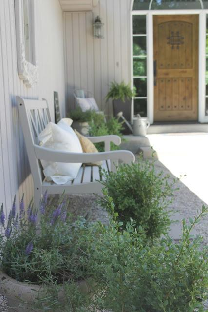 French inspired pea gravel courtyard by Hello Lovely Studio