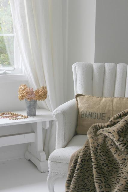 Vintage chair and white decor by Hello Lovely Studio