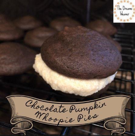 The Dreams Weaver ~ Chocolate Pumpkin Whoopie Pies
