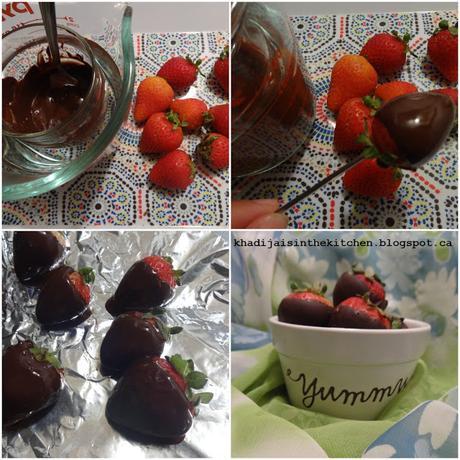 FRAISES ENROBÉES DE CHOCOLAT / CHOCOLATE COVERED STRAWBERRIES / FRESAS CUBIERTAS CON CHOCOLATE / توت مغمس في الشوكولاته