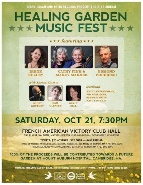 21st Annual Greater Waltham Healing Garden Benefit Concert ,Oct 21, 2017  French American Victory Club, Waltham, Massachusetts