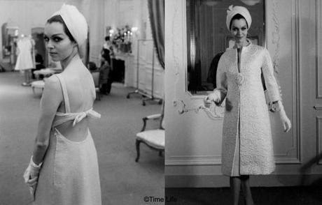3-St.Laurent-bare-backed-dress-and-coat-1962