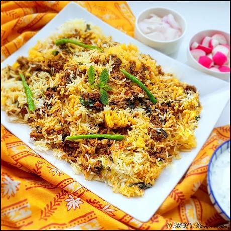 Keema Biryani...Sunday traditions!