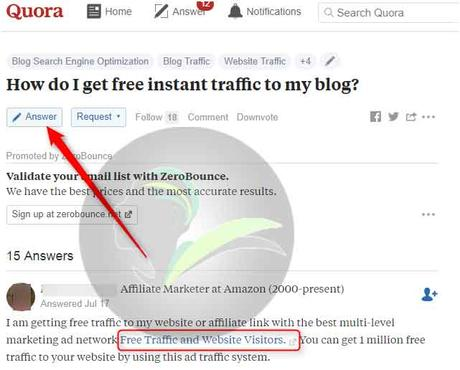 How to Drive Traffic to a New Blog Using Q&A Websites
