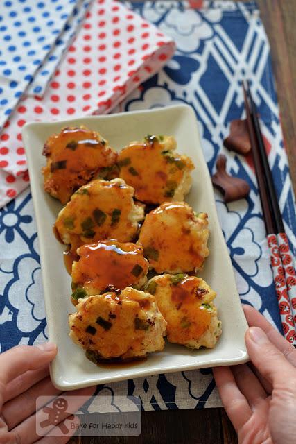 Japanese teriyaki chicken meatballs low fat moist healthy