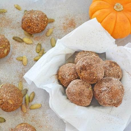 Healthy, No-Bake Pumpkin Spice Doughnuts (gluten free, vegan)