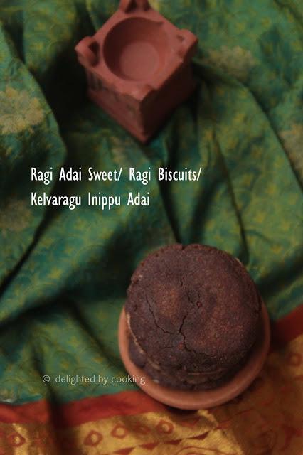 Ragi Adai Sweet/ Kelvaragu Inippu Adai/ Ragi Rotti