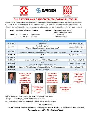 Post ASH CLL Society Patient and Caregiver Educational Forums